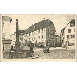 carte postale ancienne 68 ALTKIRCH. Rue Henner 1927. Porteuse de lait