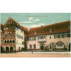 carte postale ancienne 68 COLMAR. Commissariat de Police 1937