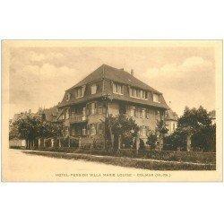 carte postale ancienne 68 COLMAR. Hôtel Pension Villa Marie-Louise 17 rue de Verdun. Carte réponse publicitaire