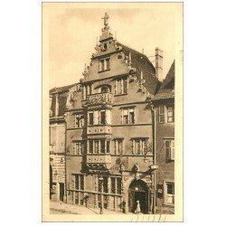 carte postale ancienne 68 COLMAR. Maison des Têtes 1938