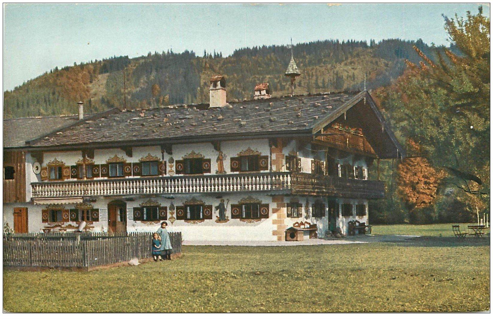 carte postale ancienne 68 COLMAR. Maison Ferme aux environs