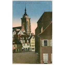 carte postale ancienne 68 COLMAR. Martinskirche 1919