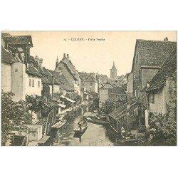 carte postale ancienne 68 COLMAR. Nombreuses barges sur la Petite Venise