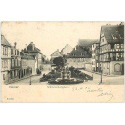 carte postale ancienne 68 COLMAR. Schwarzenbergplatz 1906