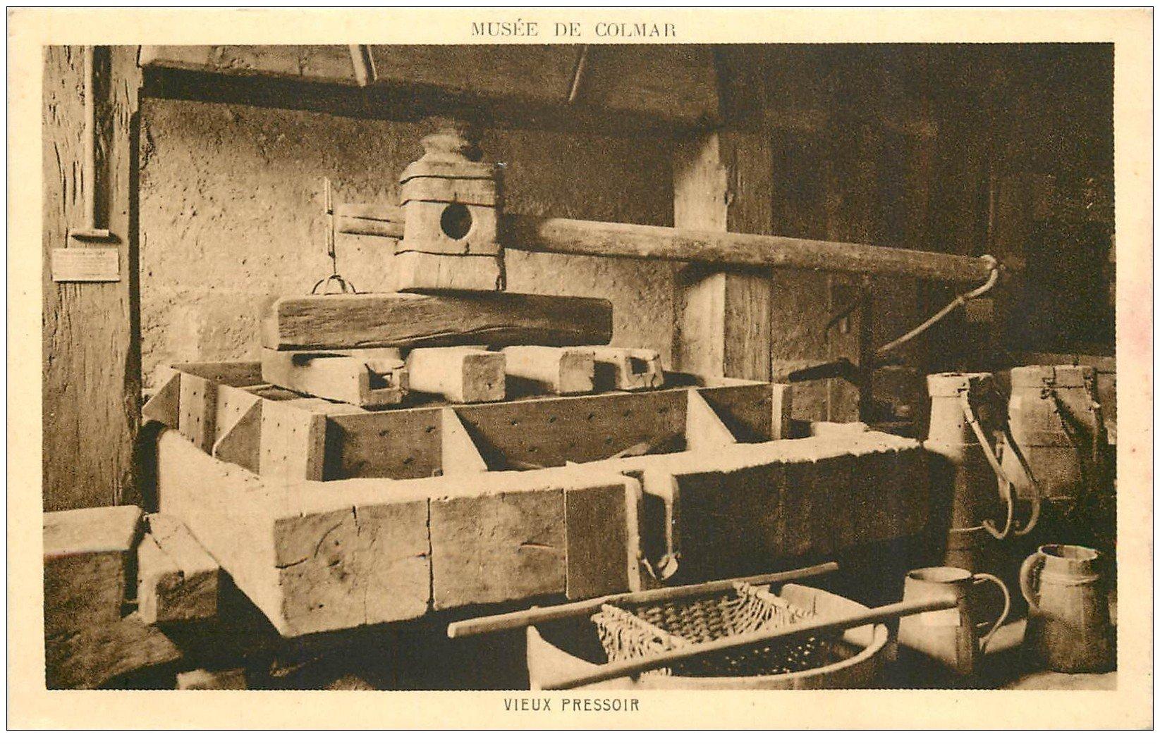 carte postale ancienne 68 COLMAR. Vieux Pressoir pour le Vin