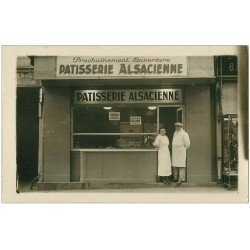 carte postale ancienne 68 COMMERCE. Pâtisserie Alsacienne. Carte photo à identifier
