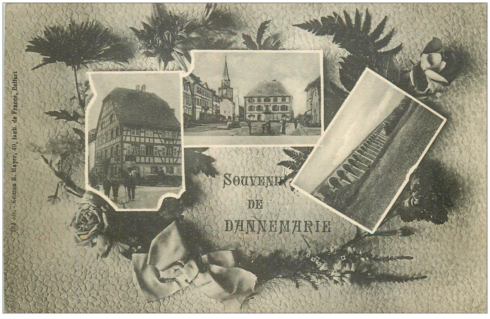 carte postale ancienne 68 DANNEMARIE. Multivues. Edition Mayer
