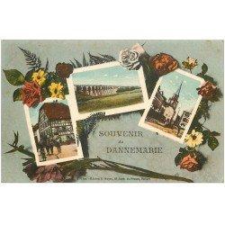 carte postale ancienne 68 DANNEMARIE. Multivues. Edition Mayer en couleur