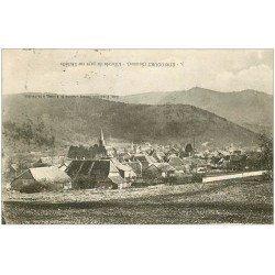 carte postale ancienne 68 DOLLEREN. Le Village 1927. Erreur dans le Titre de plus à l'envers... Etricourt