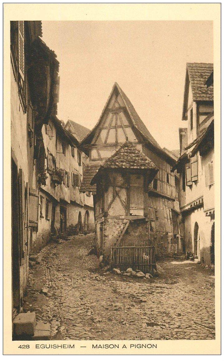 carte postale ancienne 68 EGUISHEIM. Maison à Pignon