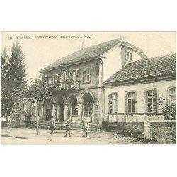 carte postale ancienne 68 FOUSSEMAGNE. Hôtel de Ville et Ecoles 1918