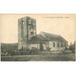 carte postale ancienne 68 GILDWILLER. L'Eglise et Cimetière