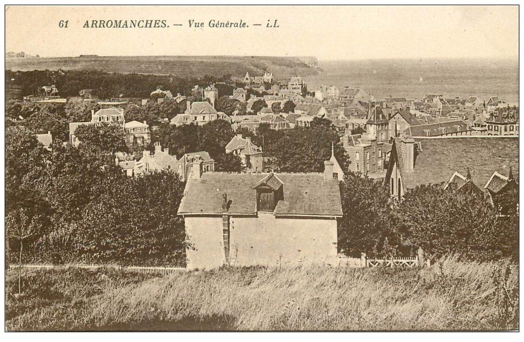 carte postale ancienne 14 ARROMANCHES. Vue générale n°61