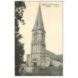 carte postale ancienne 14 ASNELLES. L'Eglise et Cimetière