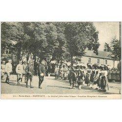 carte postale ancienne 68 MASSEVAUX. Réception au Général Joffre