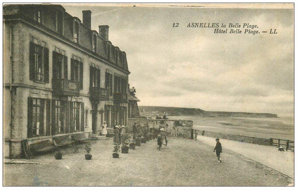 carte postale ancienne 14 ASNELLES-LA-BELLE-PLAGE. Hôtel Belle Plage 1930