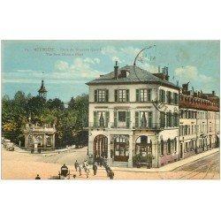 carte postale ancienne 68 MULHOUSE. Café Rey Place du Nouveau Quartier