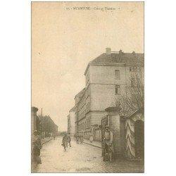 carte postale ancienne 68 MULHOUSE. Caserne Turenne avec Sentinelles et guérite. Timbre absent