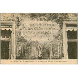 carte postale ancienne 68 MULHOUSE. Emblême pour châtiment des mauvaises langues 1924