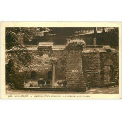 carte postale ancienne 68 MULHOUSE. Fosse aux Ours Jardin zoologique 1938. Timbre absent
