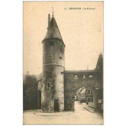 carte postale ancienne 68 MULHOUSE. Le Bollwerk 1924. Affiche Chicorie Arlatte