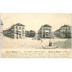 carte postale ancienne 68 MULHOUSE. Neues et Nouveau Quartier 1903