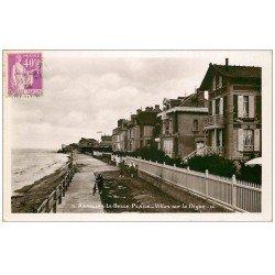 carte postale ancienne 14 ASNELLES-LA-BELLE-PLAGE. Villas sur la Digue 1934. Carte Photo