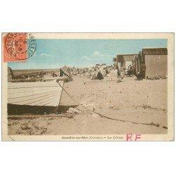 carte postale ancienne 14 ASNELLES-SUR-MER. Les Cabines 1932
