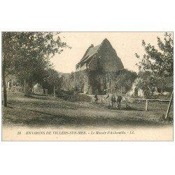carte postale ancienne 14 AUBERVILLE. Chevaux au Manoir