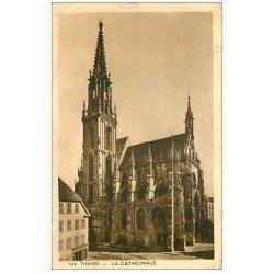 carte postale ancienne 68 THANN. La Cathédrale 174