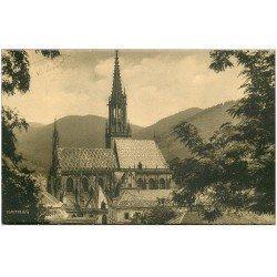 carte postale ancienne 68 THANN. La Cathédrale 1938