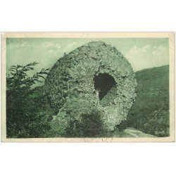 carte postale ancienne 68 THANN. Ruines Château de l'Engelbourg 1931