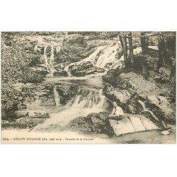 carte postale ancienne 67 BALLON D'ALSACE. Cascade de la Cuvotte animation