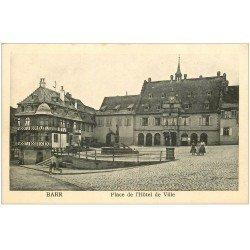 carte postale ancienne 67 BARR HAUT. Place de l'Hôtel de Ville 1939