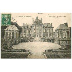 carte postale ancienne 14 BALLEROY. Château et Pavillons 1913