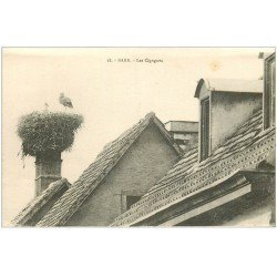carte postale ancienne 67 BARR. Les Cigognes