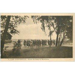 carte postale ancienne 67 CAMP D'OBERHOFFEN. Retour de Manoeuvres 1926. Militaires et Soldats