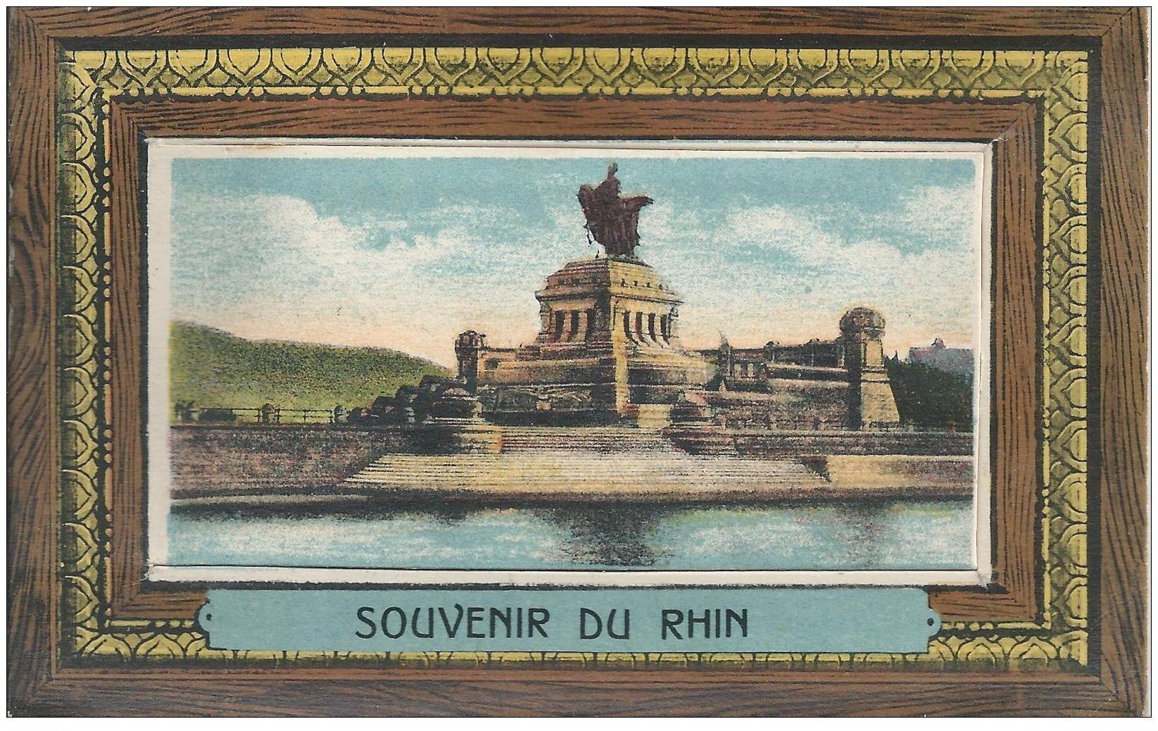 carte postale ancienne 67 CARTE A SYSTEMES. Souvenir du Rhin avec 10 mini-vues à l'intérieur