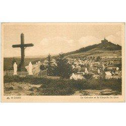 carte postale ancienne 67 DABO. Calvaire et Chapelle Saint-Léon 1948