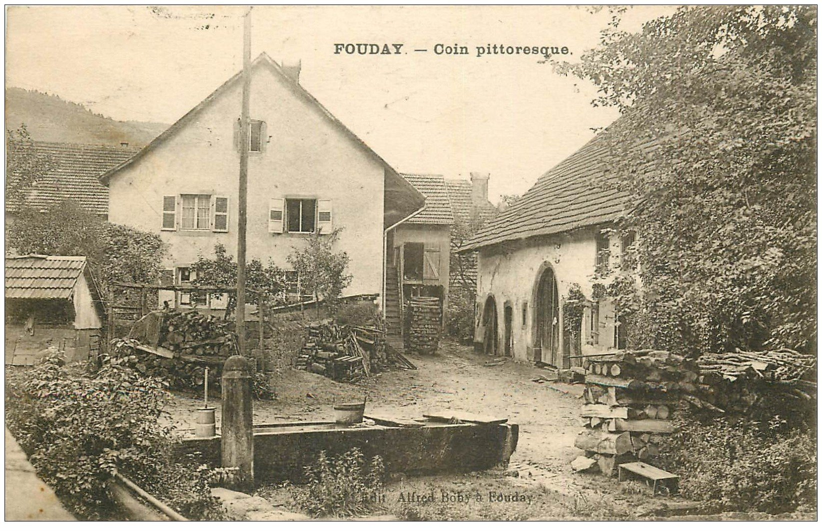 carte postale ancienne 67 FOUDAY. Coin pittoresque 1923