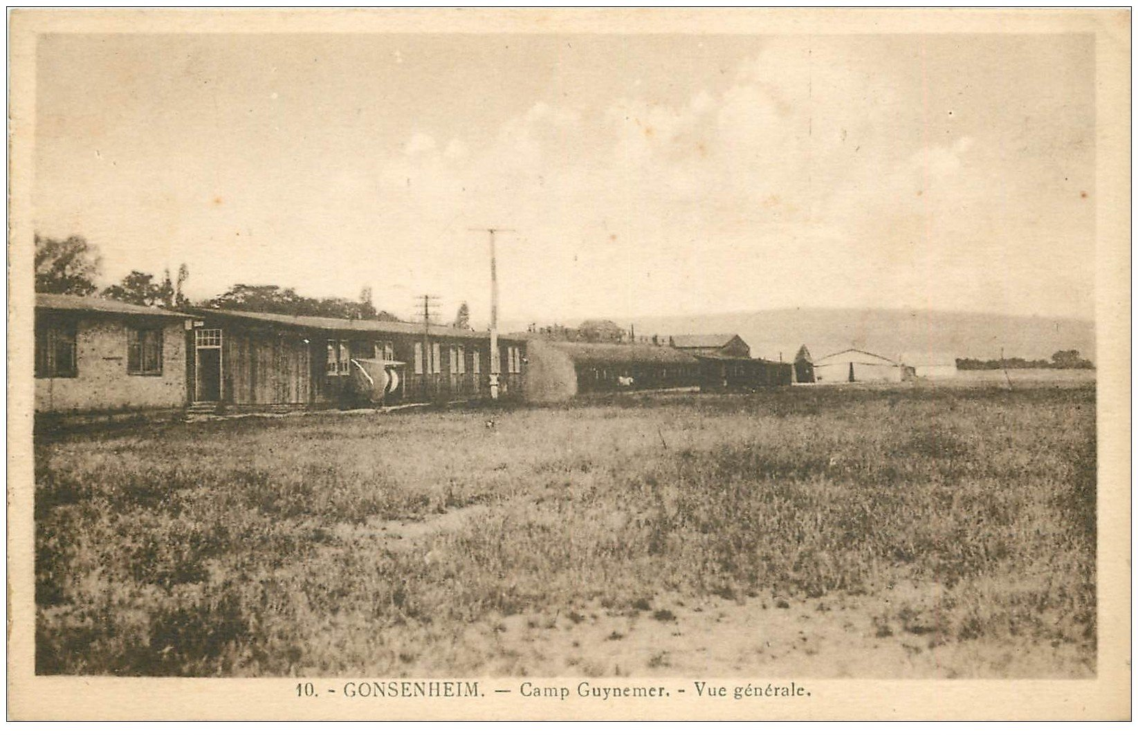 carte postale ancienne 67 GONSENHEIM. Camp Guynemer