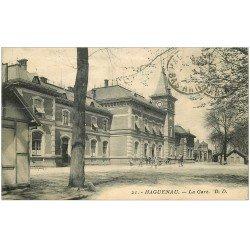carte postale ancienne 67 HAGUENAU HAGENAU. La Gare 1926