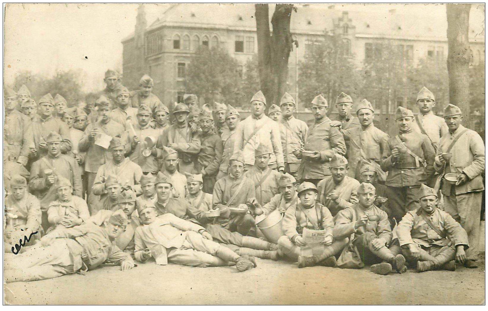 carte postale ancienne 67 HAGUENAU HAGENAU. Militaires. Carte Photo 1921