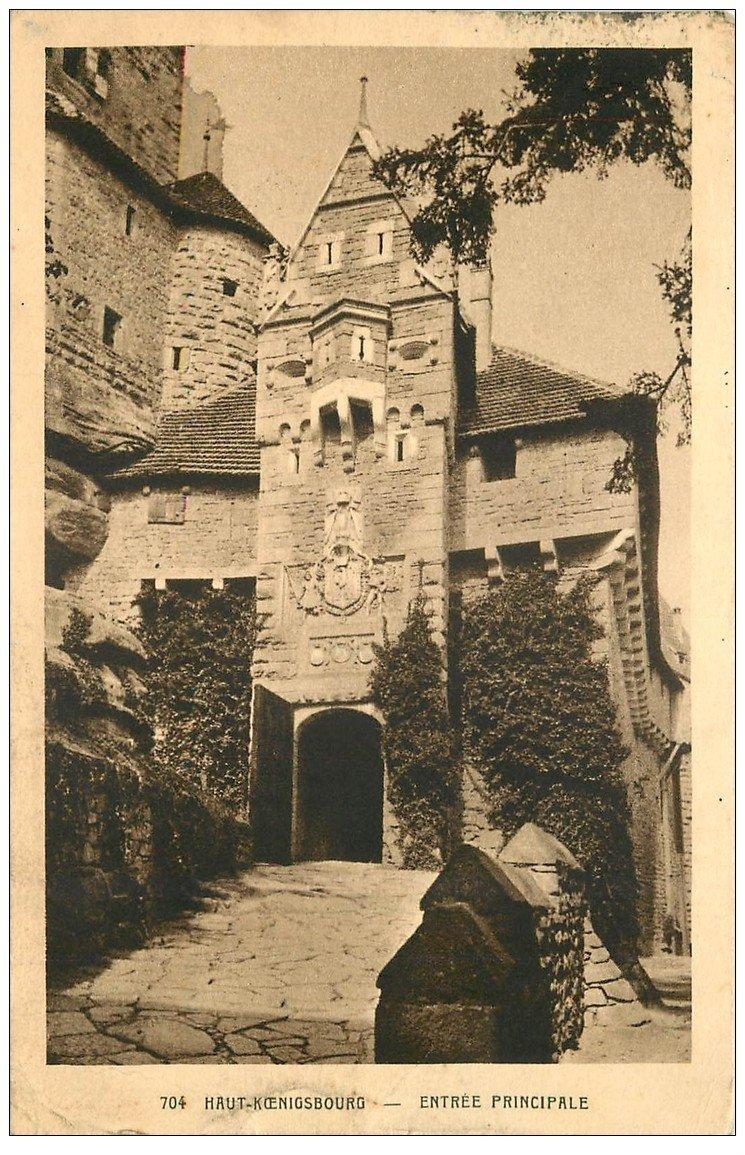 carte postale ancienne 67 HAUT-KOENIGSBOURG. Entrée principale 1937