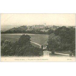 carte postale ancienne 02 COUCY-LE-CHATEAU. Vue prise de la Tour de Moyembrie 1905