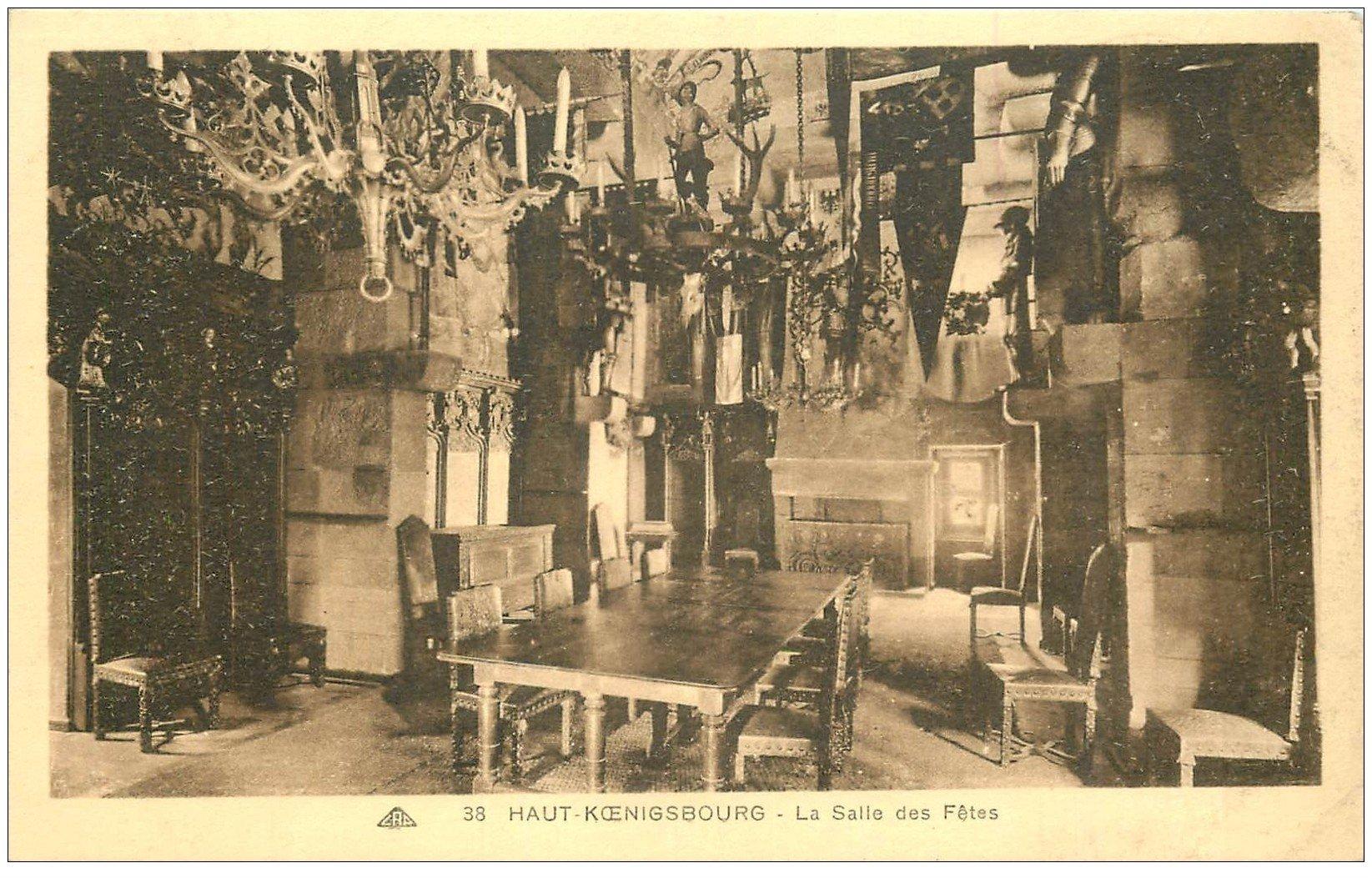 carte postale ancienne 67 HAUT-KOENIGSBOURG. Salle des Fêtes