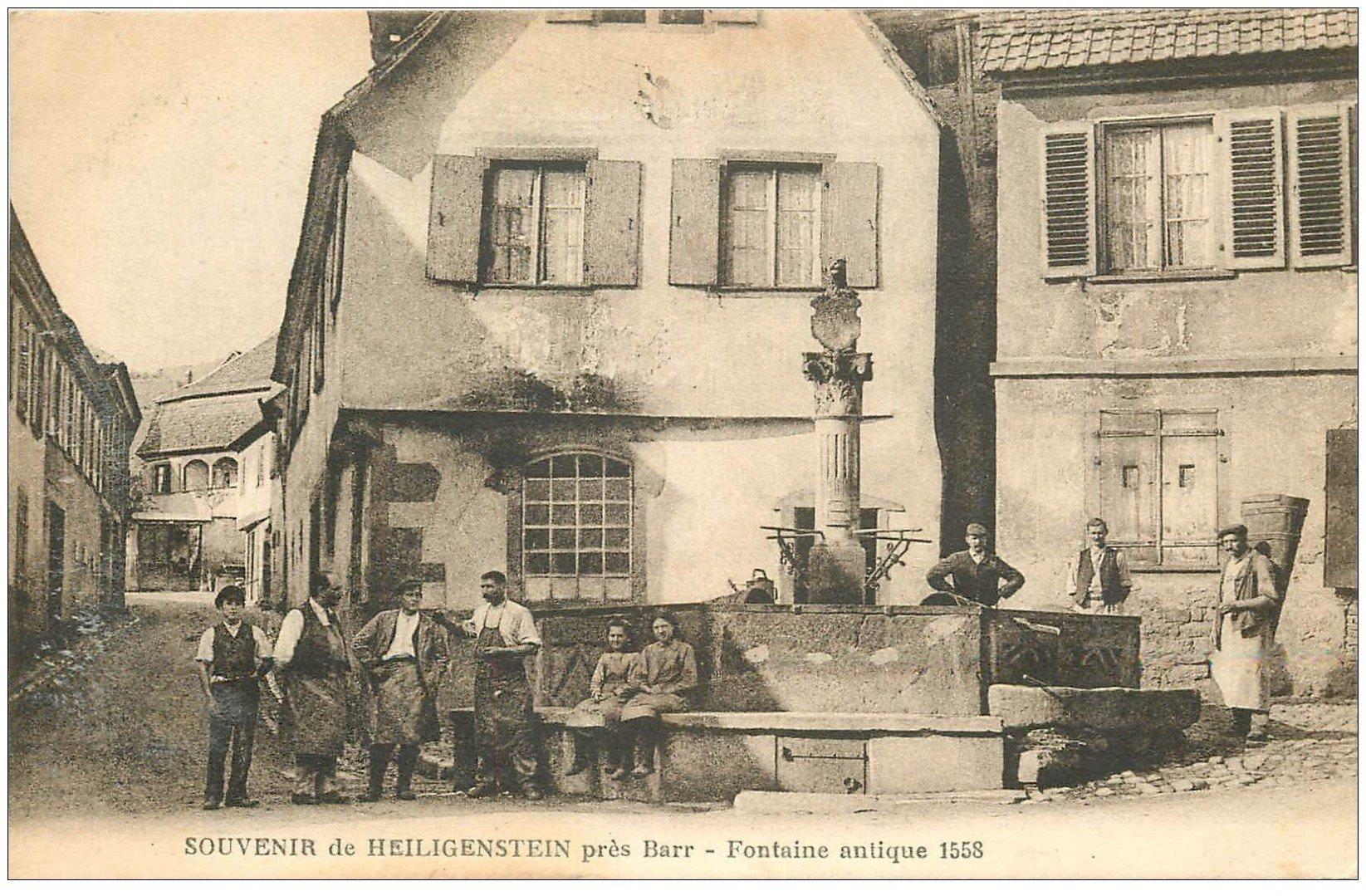carte postale ancienne 67 HEILIGENSTEIN. Fontaine antique