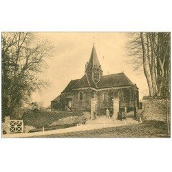 carte postale ancienne 14 BALLEROY. L'Eglise animation