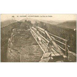 carte postale ancienne 67 SAVERNE. Le Haut-Barr. Pont du Diable 1928. Timbre manquant
