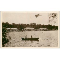 carte postale ancienne 67 STRASBOURG STRASSBURG. Aéroplane Plage Baggersee. Real Photo